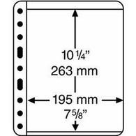 Kunststoffhüllen VARIO PLUS, 1er Einteilung,schwarz, 5er Pack - Buste Trasparenti