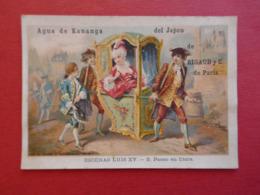 Rare CHROMO  Espagnole. Spania.Parfumerie.Agua De Kananga Del Japon. RIGAUD Paris. Escenas Louis XV. Chaise à Porteurs - Ohne Zuordnung