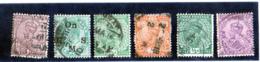 B - 1906/34 India - 6 Usati Differenti - India (...-1947)