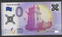BILLET 0 EURO EN POLYMERE LA TOUR DE BELEM - Private Proofs / Unofficial