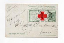 !!! PRIX FIXE : CARTE CROIX ROUGE ITALIENNE AVEC PORTE TIMBRE DE TURIN DU 1/1/1916 POUR TUNIS - Postmark Collection (Covers)
