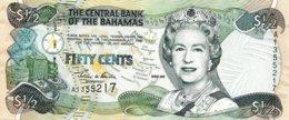 BAHAMAS $1/2 GREEN WOMAN QEII FRONT WOMAN FRUITS BACK DATED 2001 UNC P.68 READ DESCRIPTION !! - Bahamas