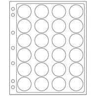 Plastic Sheets ENCAP, Clear Pockets For 24 Coins With A Diameter Between 34 And 35 Mm - Buste Trasparenti