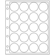 Plastic Sheets ENCAP, Clear Pockets For 20 Coins With A Diameter Between 39 And 41 Mm - Buste Trasparenti