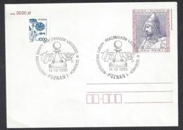 Chess, Poland Poznan, 14.10.1995, Cancel On Envelope, Transport Workers European Championship - Echecs