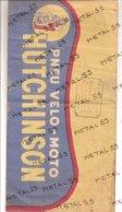 Chapeau Type Calot En Papier Publicitaire Pneu Vélo Moto Hutchison, Moret Israel à Prisches, Vers 1950 - 1900 – 1949