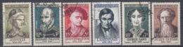 +B1659. France 1957. Célébrités. Yvert 1108-13. Oblitérés - Francia