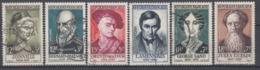 +B1661. France 1957. Célébrités. Yvert 1108-13. Oblitérés - France