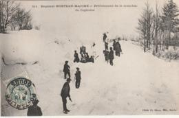 25 / Regional Morteau Maiche - Déblaiement De La Tranchée Du Capitaine - écrite 1907 (train Au Fond) - Francia