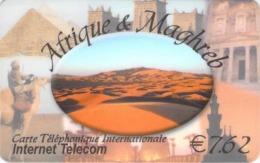 AFRIQUE ET MAGHREB  -  Prépaid - Carte Prépayée  - - Frankrijk