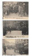 Lijkplechtigheden V Z.M.Léopold II 22 Dec.1909 Funérailles De S.M.Léopold II 10 Postkaarten Nrs 11 Tot 20 - Cartes Postales