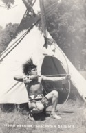 RP: Archery ; Indian Warrior , Wisconsin Dells , 30-40s - Indiani Dell'America Del Nord