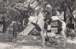 RP: Archery ; Indian Warrior On Horse , Wisconsin Dells , 30-40s - Indiani Dell'America Del Nord