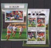 DJ044 2016 DJIBOUTI SPORT FOOTBALL RUGBY STARS KB+BL MNH - Rugby