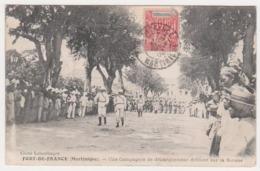 27146 Martinique Fort-de-France - Compagnie De Débarquement Défilant Savane - Leboullanger Militaire Soldat-1908 - Fort De France
