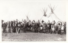 RP: Western Indians In Tribal Dress , 20-30s - Native Americans