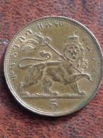 ETHIOPIE UNC 5 MATONAS 1923 - TRANCHE CANNELEE - Ethiopië