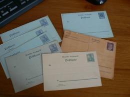 ALLEMAGNE/1 CARTE REPONSE ENTIER POSTAUX/6 CARTES ENTIER POSTAUX NEUF - Allemagne