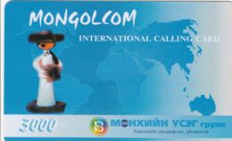 Mongolia - Mongolcom - Woman - Mongolia