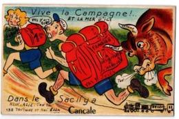 CARTE A SYSTEME CANCALE SOULEVEZ LE SAC A DOS CARTE COULEUR - Cartoline Con Meccanismi