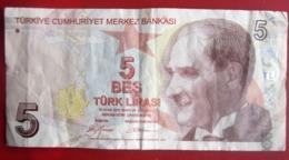 BILLET DE BANK TURQUIE TURKTE CUMHURIYET MERKEZ BANKASI  5 BES TURC LIRASI Monnaies & Billets 1993 - Turkije