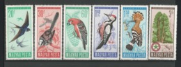 Hungary 1966 Birds Y.T. 1809/1814 ** - Hongarije