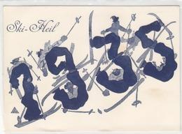 Ski-Heil - Sign. Dr.F.Schuberth, Wiener Karikaturist      (A-125-160923) - Künstlerkarten