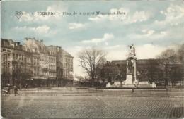 TOURNAI - Place De La Gare Et Monument Bara - Oblitération De 1912 - Tournai