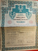 EMPIRE CHERFIEN / PROTECTORAT DE LA REPUBLIQUE FRANCAISE AU MAROC 1934 - Africa