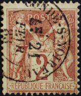 Sage N°85 Type II O.(CAD ) CONDE-S-NOIREAU 21 FEVR 1883. - 1876-1898 Sage (Type II)