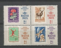 Hungary 1965 Stamp Day 4-block Y.T. 1776/1779 ** - Hongarije