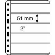 Kunststoffhüllen VARIO PLUS, 5er Einteilung,schwarz, 5er Pack - Buste Trasparenti