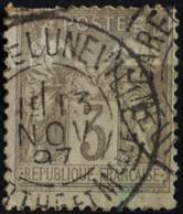 Sage N°87 Type II O.(CAD ) LUNEVILLE 13 NOV 1897.( Second Choix ) - 1876-1898 Sage (Type II)