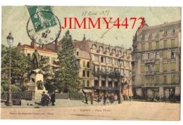 CPA - NANCY - Place Thiers Bien Animée En 1908 - 54 Meurthe Et Moselle - N° 17 - Edit. Maison Des Magasins Réunis Nancy - Nancy