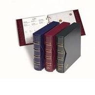 Ringbinder NUMIS, Classic-Design Inkl. Schutzkassette, Blau - Formato Grande, Sfondo Nero