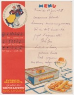 Menu 1938 - Gavottes Crepes Bretonnes Dentelles Bretagne France Costume Breton - Menus
