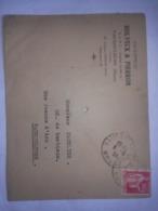 Rare Enveloppe Timbrée Entreprise HOLVECK PIERRON  à VAUCOULEURS . MEUSE . (55) - Reclame