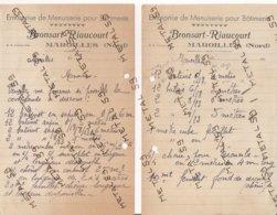 Entreprise De Menuiserie Pour Bâtiments Bronsart Riaucourt, Maroilles, Vers 1940 - 1900 – 1949