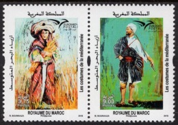 Morocco - 2019 - Euromed - Costumes Of The Mediterranean - Mint Stamp Set - Marokko (1956-...)