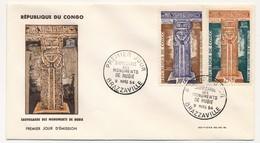 CONGO => 2 FDC - Sauvegarde Des Monuments De Nubie - 9 Mars 1964 - Brazzaville - FDC