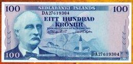 Islande 1961 100 Kronur  AU / UNC    See Explain - Iceland