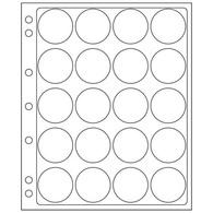 Kunststoffhüllen ENCAP, Für 20 Münzen Mit Einem InnenØ Von 39 Bis 41 Mm - Buste Trasparenti