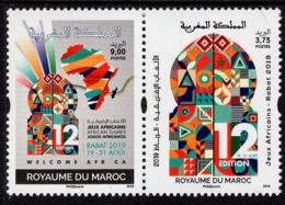 Morocco - 2019 - African Games, Rabat 2019 - Mint Stamp Set - Marokko (1956-...)