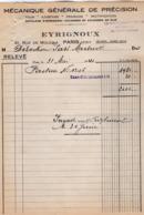 VP16.018 - Facture - Mécanique Générale De Précision EYRIGNOUX à PARIS Rue De Mouzala - France