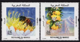 Morocco - 2019 - Bees And Lemons - Mint Scented Stamp Set - Marokko (1956-...)