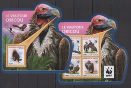 DJ086 2016 DJIBOUTI WWF FAUNA BIRDS LE VAUTOUR OICOU KB+BL MNH - W.W.F.