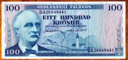Islande 1961 100 Kronur  EF    See Explain - Iceland