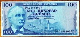Islande 1961 100 Kronur  F     See Explain - IJsland