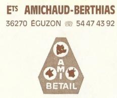 AMI BETAIL AMICHAUD BERTHIAS EGUZON INDRE - PORC, VACHES... FLAMME EGUZON BARRAGE, LAC, SPORTS NAUTIQUES 1990 - Ferme