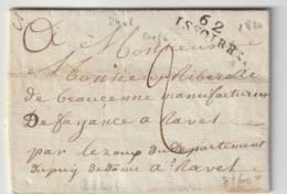 PUY DE DOME - 62 Issoire  - Lettre Pour Ravel -PD 24x8 - Tm2 N - 1820 - Postmark Collection (Covers)